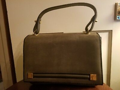 e3de1d154b VINTAGE LOEWE VINTAGE GREEN SUEDE LEATHER BAG HANDBAG w  changepurse    mirror