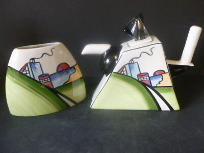 Lorna Bailey Deco House Vase And Teapot *brand New*