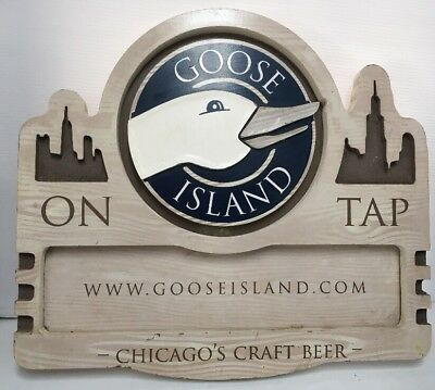 Goose Island Brewing ~ Wood Beer Sign ~ Craft Beer Bar Decor Man Cave