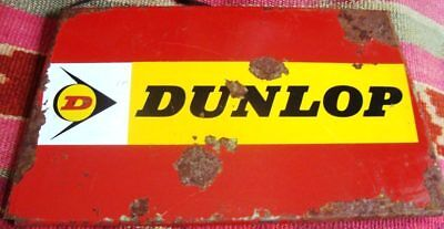 Antique Vintage Dunlop Tire Tyres Metal Tin Enameled Sign Argentina Advertising