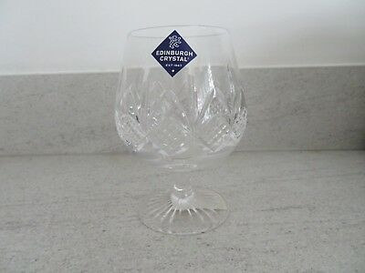 "Edinburgh Crystal ""SKYE"" Brandy Glass – Signed"