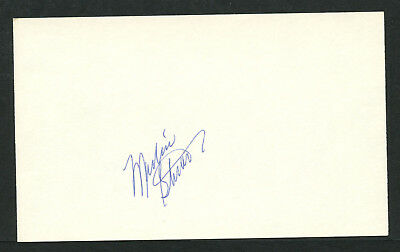 Marlin Stuart (d. 1994) signed autograph Baseball 3x5 Index Card 5060-06