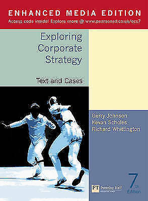 Exploring Corporate Strategy: Text and Cases(Enhanced Media Edition), Johnson, G
