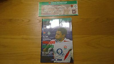 2004 England v Ireland + Match Ticket