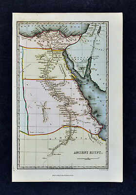 c 1799 Map - Ancient Egypt - Pyramids Memphis Alexandria Tanis Thebes Nile River