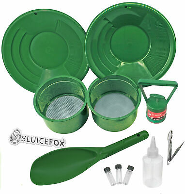 Sluice Fox 11 Piece Gold Panning Set with Classifier Sifting Pans