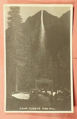 Camp Curry Fire Fall Yosemite Ntl Park Rppc