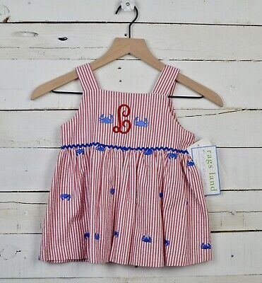 Girls' Clothing (newborn-5t) Clothing, Shoes & Accessories Ragsland Blue Red White Madras Plaid Dress Size 3t 100% Cotton