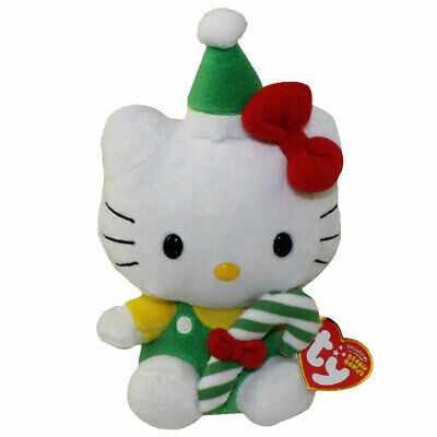 TY BEANIE BABY - HELLO KITTY ( GREEN CANDY CANE) (7.5 inch) - MWMTs ... 0068fce0d68f