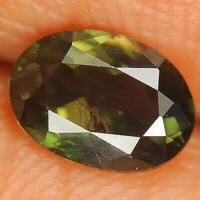 1.15 Ct Natural Unheated Greenish Yellow KORNERUPINE Oval Gem @ See Video !!