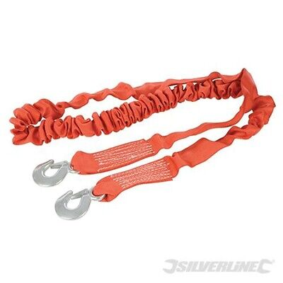 4m x 50mm Elasticated Tow Rope - 4 Silverline Tonne 443621