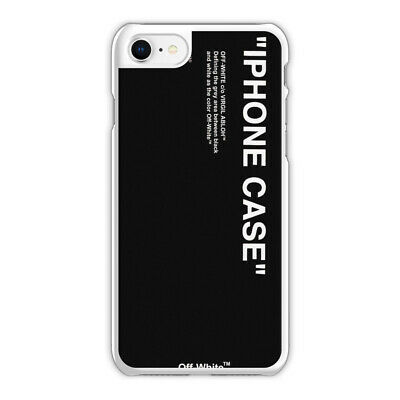 outlet store 8831d 79b33 OFF WHITE BLACK Logo Phone Case fit for iPhone 6S 6 Plus 7s 8 Plus X