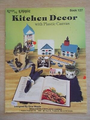 Kount On Kappie #127~Kitchen Decor With Plastic Canvas~20pp~13 Projects~1989