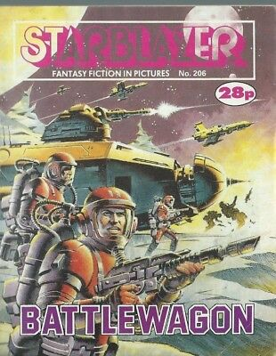 Battlewagon,starblazer Fantasy Fiction Adventure In Pictures,comic,no.206