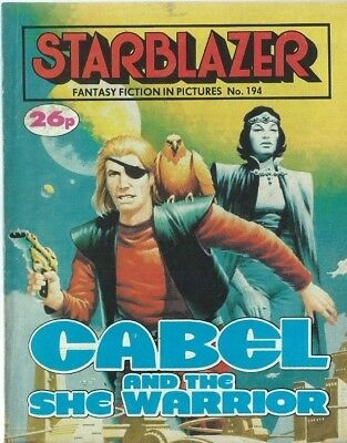 Cabel And The She Warrior,starblazer Fantasy Fiction Adventure,comic,no.194