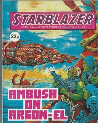 Ambush On Argon-El,starblazer Space Fiction Adventure In Pictures,comic,no.134