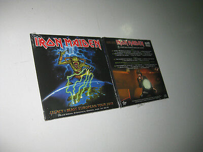 Iron Maiden 2 Cd Live In Stockholm 01/06/2018 Sealed