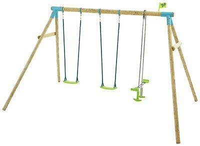 TP Heron Wooden Triple Swing Set Multiplay