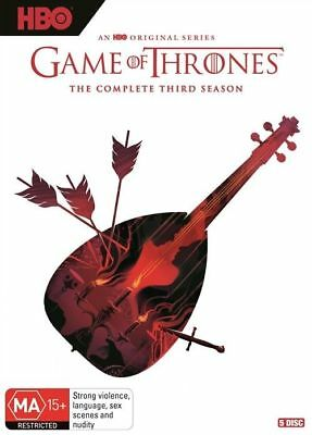 Game Of Thrones : Season 3 (DVD, 2018, 5-Disc Set), NEW SEALED AUSTRALIAN