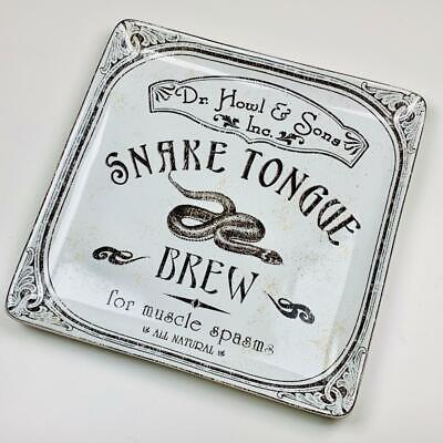 "Halloween Hallow Apothecary Snake Tongue Brew 14"" Serving Platter 222 Fifth Rare"