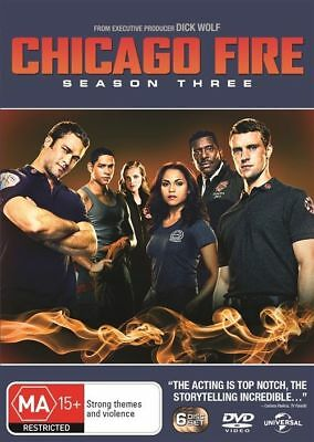 Chicago Fire : Season 3 (DVD, 2016, 6-Disc Set), NEW SEALED AUSTRALIAN