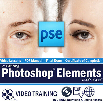 New Learn PHOTOSHOP ELEMENTS 2019 Training Tutorial Course DVD-ROM 186 Lessons