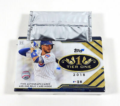 2018 Topps Tier One Factory Sealed Baseball Hobby Box with Silver Pack