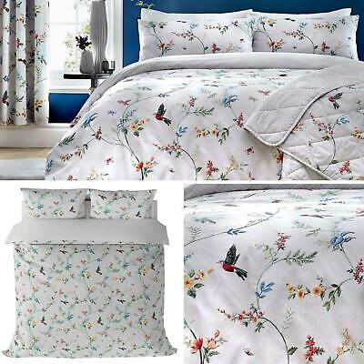Grey Duvet Covers Mansfield Floral Bird Quilt Sets Luxury Bedding Collection