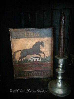 Primitive Colonial Tavern Sign 8x10 Canvas Board Print Cupboard Tuck