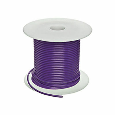 USA 100ft 22ga 22awg Copper Purple With White Stripe Stranded TFE Teflon Wire