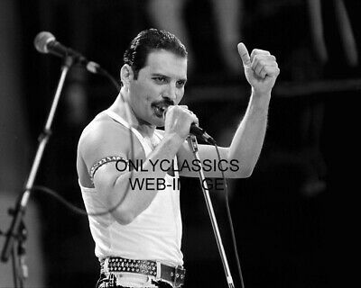 """M7368 Freddie Mercury UNSIGNED 8/"""" x 6/"""" photograph Lead singer with Queen"""