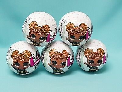 L.O.L Surprise!  5 x Glitter  Puppe Ball LOL Glitrzer