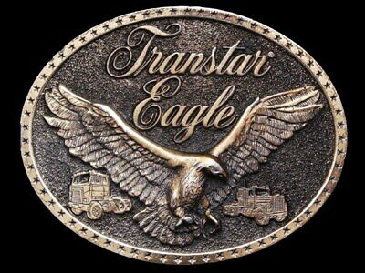 HL29148 VINTAGE 1970s INTERNATIONAL *TRANSTAR EAGLE SEMI-TRUCKS* TRUCKER BUCKLE
