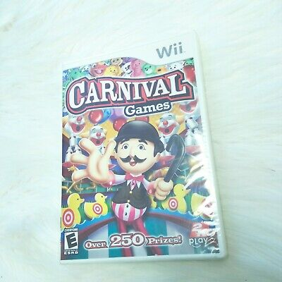 New Carnival Games (Nintendo Wii, 2007) Over 250 Prizes Video Game Complete