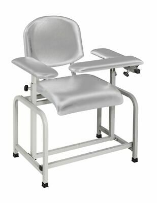 AdirMed Silver Gray Padded Phlebotomy Blood Drawing Chair