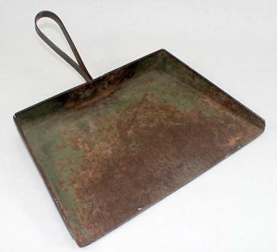 Rare Antique Primitive Industrial Age Metal Machine Shop Dustpan