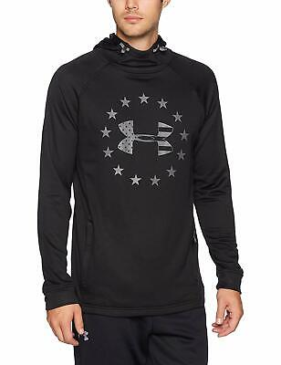 Under Armour Men's Black/Gray UA Freedom Tech French Terry Pullover Hoodie