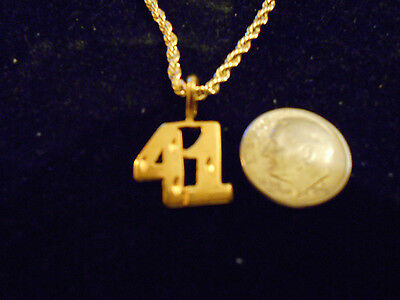 bling gold plated game fashion jewelry number 41 pendant charm hip hop necklace