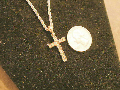 bling gold plated CHRISTIAN jesus cross crucifix pendant charm chain necklace GP