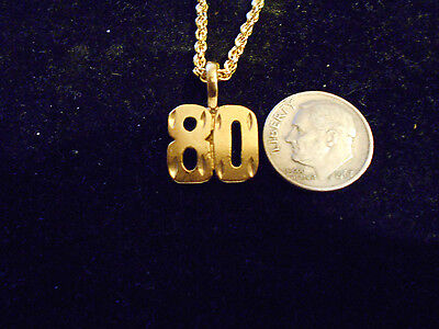 bling gold plated game fashion jewelry number 80 pendant charm hip hop necklace