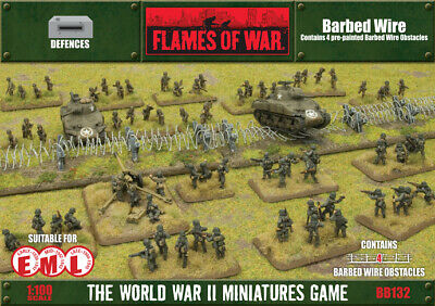 Flames of War Barbed Wire Terrain By Battlefront BB132