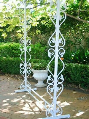 Iron Wedding Debutante Dress Garment Rack Stand Display Home Bridal Shop WHT
