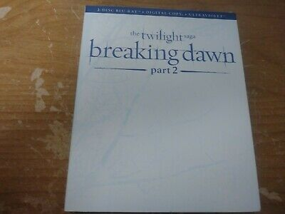 Twilight Breaking Dawn Part Two 2 Disc Bluray Dvd Set Movie Film Summit 2012