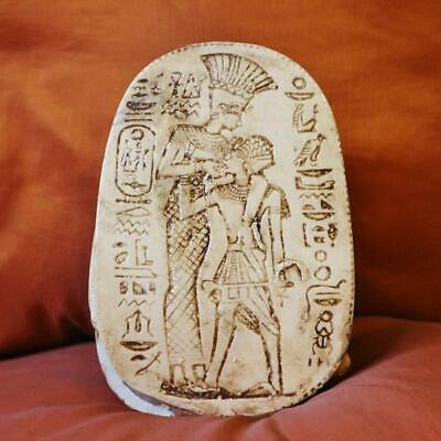 Unique Egyptian Amulet Beetle Scarab Statue With Hieroglyphics.........XX-Large
