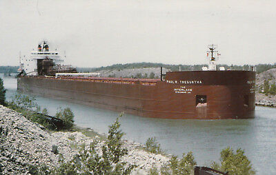 M/V Paul Tregurtha Great Lakes Freighter Ship Interlakes Lines New Postcard