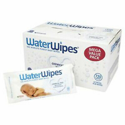 Water Wipes - The Worlds Purest Baby Wipes. 12x60 Bulk Carton