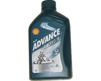 Shell Advance Racing M 2 Tempi Olio 1L Rotax Max Iame X30 Tkm UK Kart Store