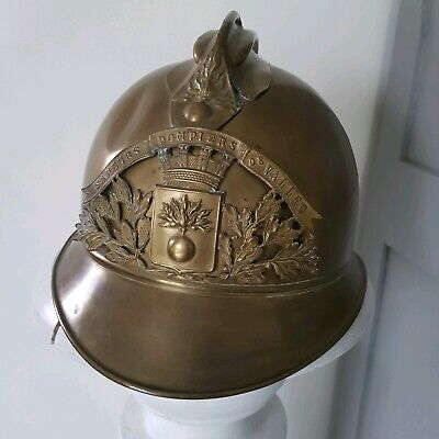 Ancien casque Sapeur Pompier /antique French firefighter helmet circa 1885