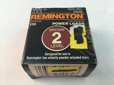"1.25/"" 3/"" 1.5/"" Remington Low Velocity Power Fasteners .5/"" 2.5/"" 100 Qty"