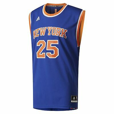 710950ebbe8b adidas NBA NEW YORK KNICKS DERRICK ROSE REPLICA JERSEY BASKETBALL MEN S  BLUE NEW